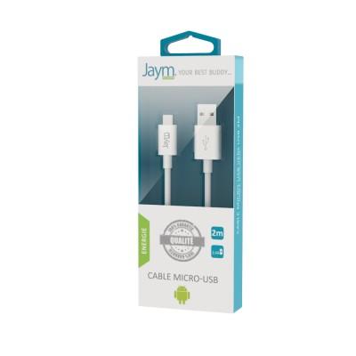 Câble charge & synchro USB vers micro USB 2m