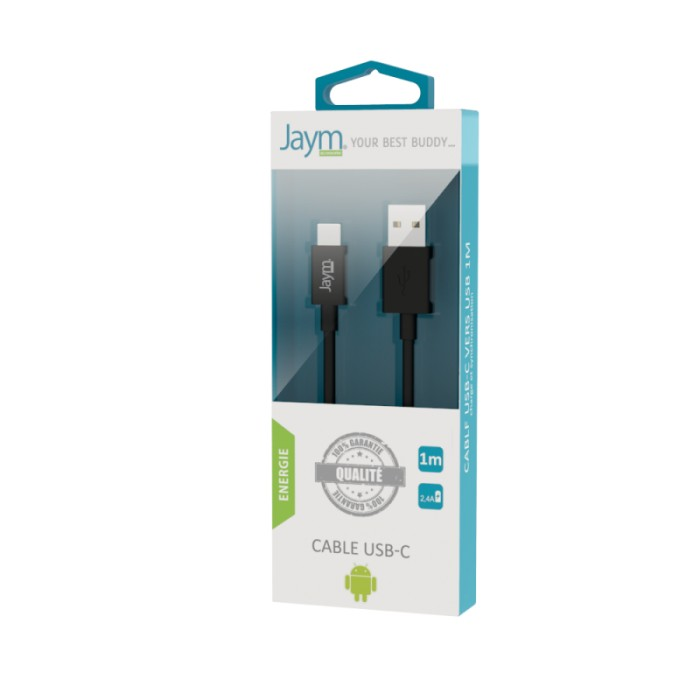Câble charge & synchro USB vers type C 1m