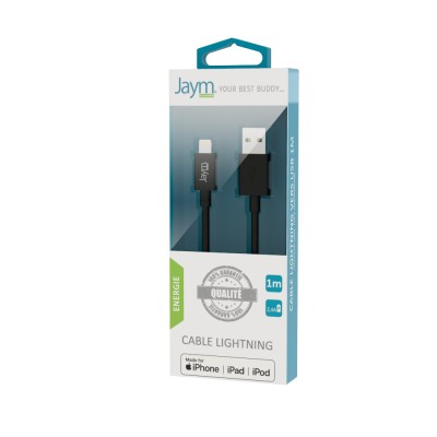 Câble charge & synchro USB vers Lightning 1m