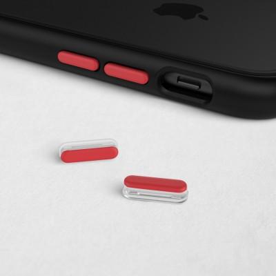 Kits boutons rouges pour coques Rhinoshield MOD NX et Solid Suit