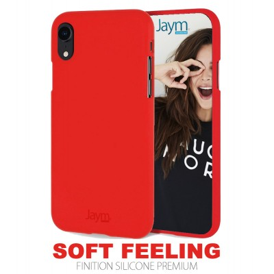 Coque silicone rouge Iphone X/XS Max