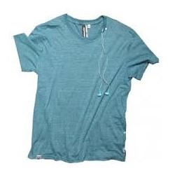 T-shirt avec écouteurs turquoise