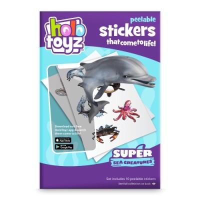 Stickers interactifs 3D animaux marins Holotoyz