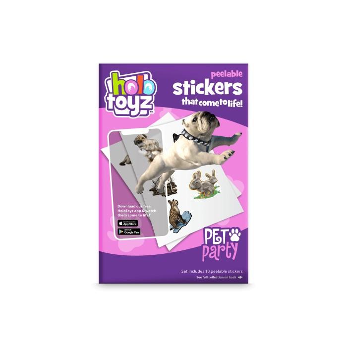 Stickers interactifs 3D animaux de compagnie Holotoyz