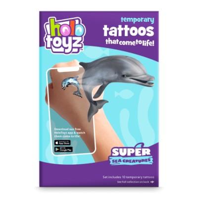 Tatouage intractif animaux marins Holotoyz