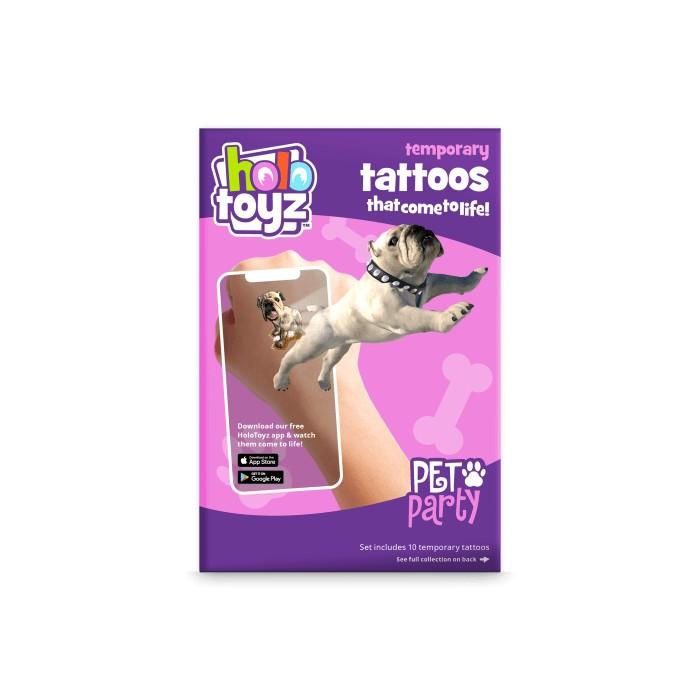 Tatouage intractif animaux de compagnie Holotoyz