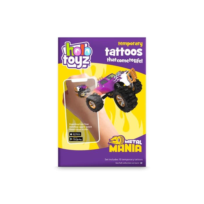 Tatouages intractifs métal mania Holotoyz